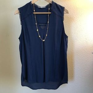 Navy Blue Shell Top - Size L